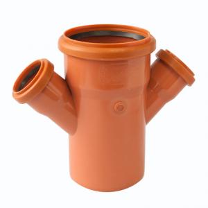 РАЗКЛОНИТЕЛ ДВОЕН PVC 200/200 - 45°  заварен