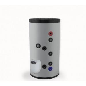 Бойлер стоящ 150л, две серпентини, електронно управление, емайлиран