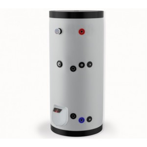 Бойлер стоящ 500л, една серпентина, електронно управление, емайлиран