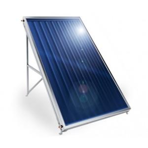 Слънчев колектор плосък, с алуминиев оребрен абсорбер, 2,5кв.м