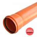 ТРЪБА PVC Ф125, 3.7mm - муфирана SN8/SDR34