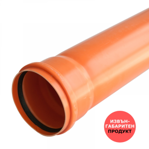 ТРЪБА PVC Ф110, 3.2mm - муфирана SN8/SDR34