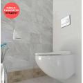Висяща тоалетна Fluenta Rimless с капак Slim
