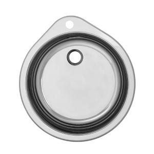 Умивалник еднокоритен 532/490 - с кръгло корито, без отцедник - Ф90