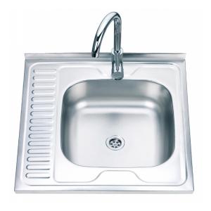 Кухненска мивка алпака 600/600/170 с ляв плот
