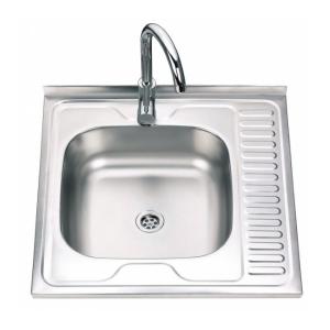 Кухненска мивка алпака 600/600/170 с десен плот