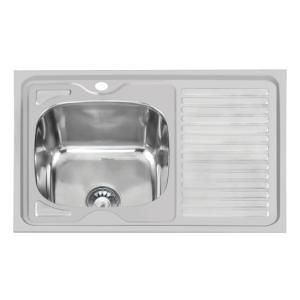 Кухненска мивка алпака 800/600/170 с десен плот